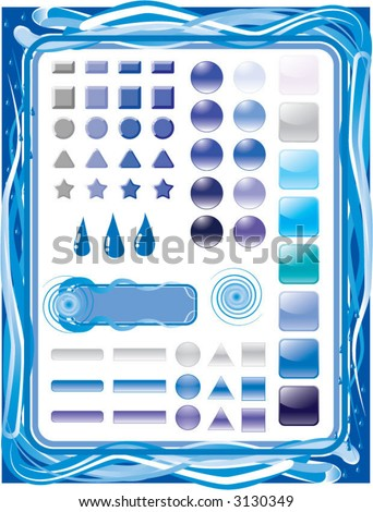 blue/water themed design element set - stock vector