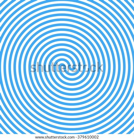 Blue Water Whirlpool. Abstract Spiral Background. Vector. - stock vector
