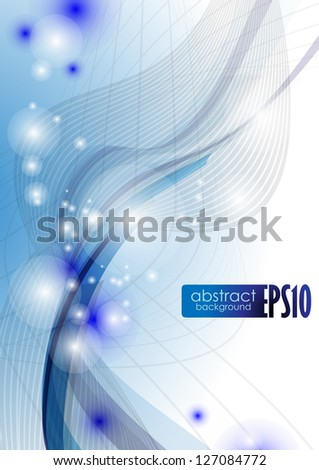 Blue wave abstract background. Vector illustration. Eps 10.
