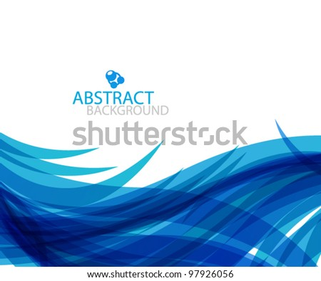 Blue wave eps10 vector background - stock vector