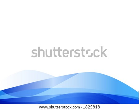Blue wave vector against a white background. - stock vector
