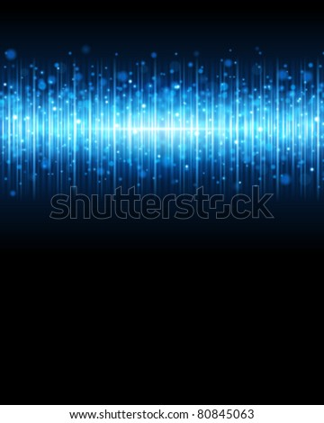 Blue waveform vector background. Eps 10. - stock vector