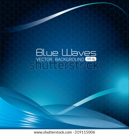 Blue waves abstract background desgin, vector illustration eps 10
