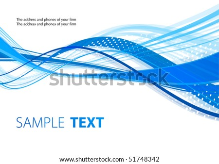 Blue waves. Vector - stock vector