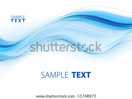 Blue waves. Vector