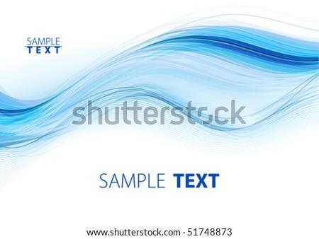 Blue waves. Vector - stock vector