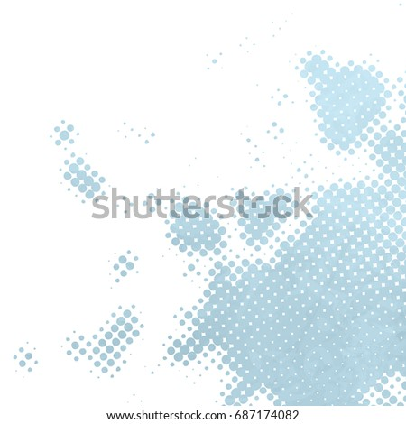 Blue white dots background - halftone pattern