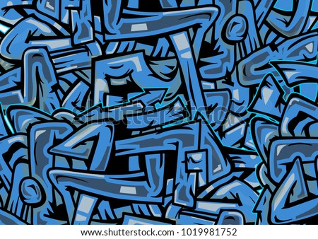 Blue wild style graffiti texture crossing stock vector 1019981752 blue wild style graffiti texture of crossing arrows and lines urban hip hop background thecheapjerseys Choice Image