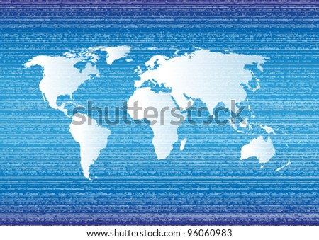 Blue world grunge background.