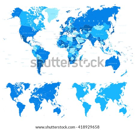 Blue world map borders countries cities stock vector 418929658 blue world map borders countries cities stock vector 418929658 shutterstock gumiabroncs Gallery