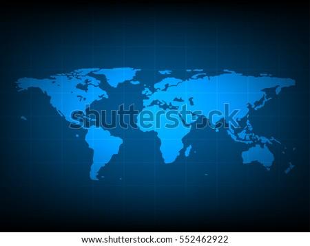 Modern blue world map wallpaper dark stock illustration 93530626 blue world map digital technology background futuristic structure elements concept background design gumiabroncs Image collections