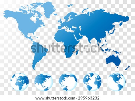 Blue world map vector vector de stock295963232 shutterstock blue world map vector gumiabroncs Images