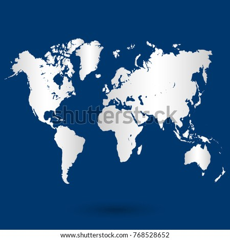 World map vector world map template stock vector 320711546 blue world map vector gumiabroncs Images