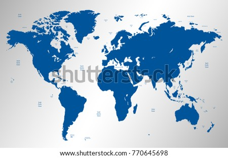 Blue world map vector vector de stock770645698 shutterstock blue world map vector gumiabroncs Images