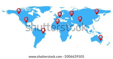 Blue world map points icon isolated stock vector hd royalty free blue world map with points icon isolated on white background infographic vector illustration gumiabroncs Choice Image