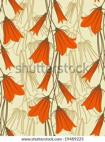 Bluebells. Seamless background. - stock vector