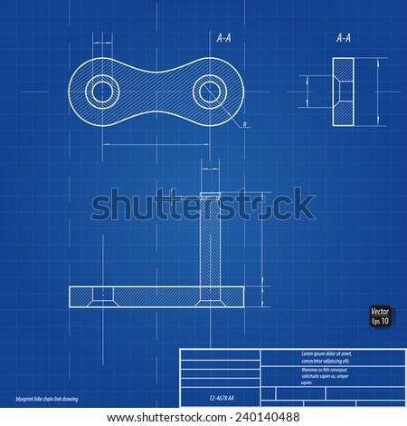 stock vector blueprint bike chain link drawing eps 240140488 bike chain schematics wire center \u2022
