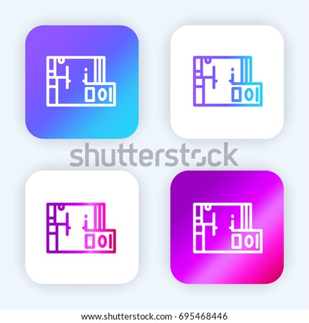 Clocks face dial watch alarm vector stock vector 466162298 blueprint bright purple and blue gradient app icon malvernweather Gallery