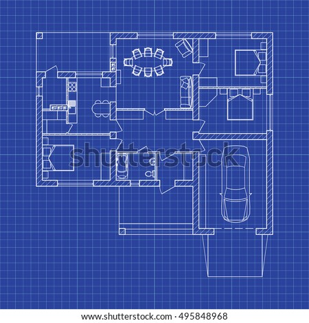 Blueprint floor plan modern apartment on vectores en stock 495848968 blueprint floor plan of a modern apartment on graph paper vector blueprint architectural background malvernweather Choice Image