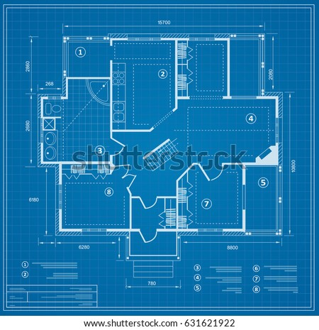 Blueprint stock images royalty free images vectors shutterstock blueprint house plan drawing figure of the jotting sketch of the construction and the industrial malvernweather