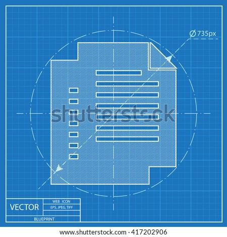 Blueprint icon document stock vector 417126379 shutterstock blueprint icon of documents malvernweather Images