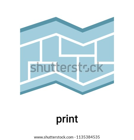 Blueprint icon vector isolated on white stock vector 2018 blueprint icon vector isolated on white background for your web and mobile app design blueprint malvernweather Choice Image