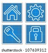Blueprint Icons, vector eps10 illustration - stock vector