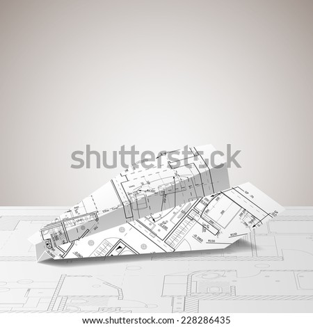 Blueprint form paper plane vector illustration vectores en stock blueprint in the form of the paper plane vector illustration malvernweather Choice Image