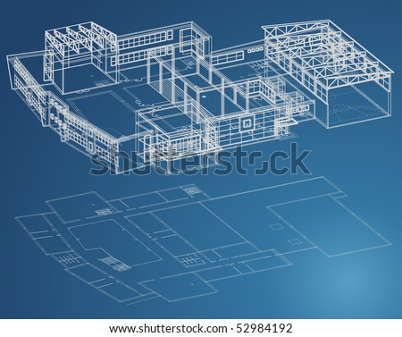 Blueprint plan school building third view stock vector hd royalty blueprint plan of school building in third view and basic malvernweather Images