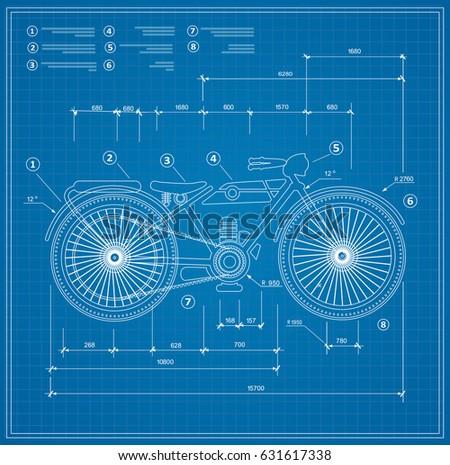 Blueprint plan outline draft motorbike motorcycle stock vector 2018 blueprint plan outline draft motorbike motorcycle stock vector 2018 631617338 shutterstock malvernweather Images