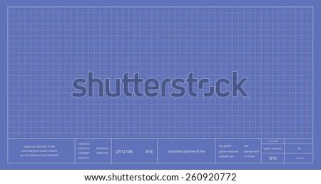 Blueprint project scheme. Vector - stock vector