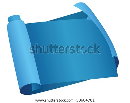 blueprint scroll - stock vector