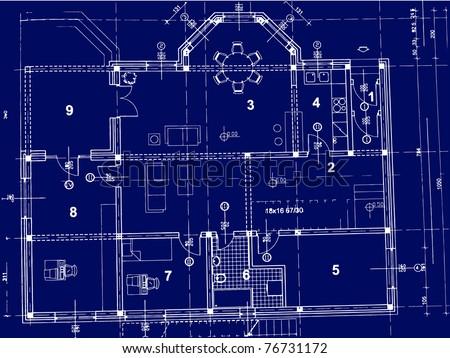 Floorplan nightclub stage bar blueprint style vectores en stock blueprint vector malvernweather Image collections