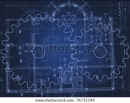 blueprint vector - stock vector