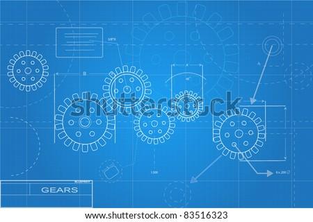 Blueprints Illustration - stock vector