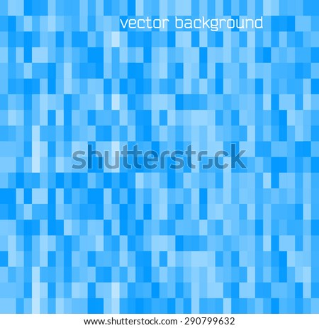 Blur blue gradient background of bright perspective with lighting glowing rectangle. Graphic image template. Abstract vector Illustration eps 10 for your business brochure - stock vector
