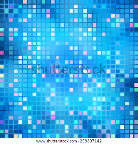Blur blue gradient background of bright perspective with lighting glowing square. Graphic image templatev. Abstract vector Illustration eps 10 for your business brochure - stock vector