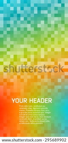 Blur rainbow gradient background of bright perspective with lighting glowing square. Graphic image template. Abstract vector Illustration eps 10 for your business brochure - stock vector