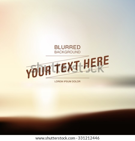 Blurred beach background with your text vector eps 10 illustration  - stock vector