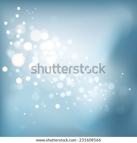 Blurred bokeh vibrant background. Vector illustration - stock vector