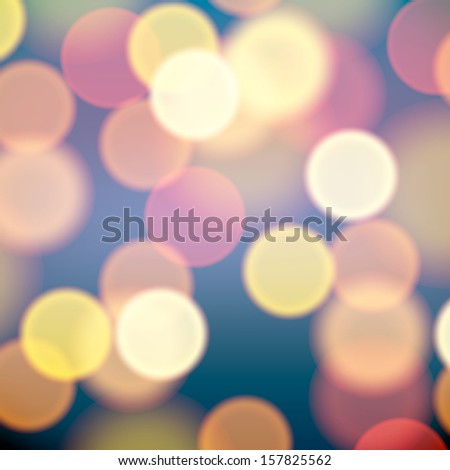 Blurred Christmas background lights, vector Eps10 illustration.  - stock vector