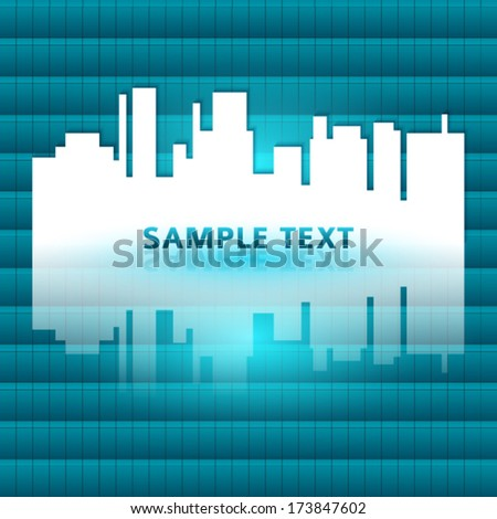 Blurred Defocused Lights of City Landscape.  Vector blue background EPS 10 for design website or flyer / presentation template / brochure layout page  / cover book or magazine / advertising booklet - stock vector