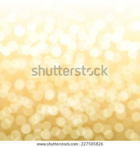Blurred Gold Background With Gradient Mesh, Vector Illustration - stock vector