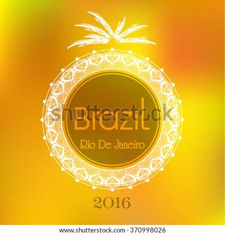 Blurred mesh abstract background: Brazil, Rio de Janeiro - stock vector