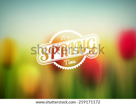 Blurred spring background, eps 10 - stock vector