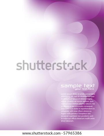 Blurry Purple Background - stock vector