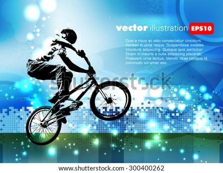 BMX bike - stock vector