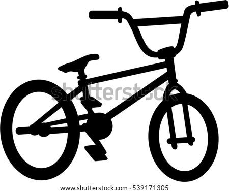 Bmx Bike Silhouette Stock Vector 539171305 Shutterstock