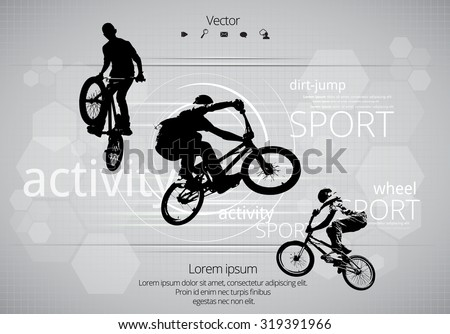 BMX biker. Vector - stock vector
