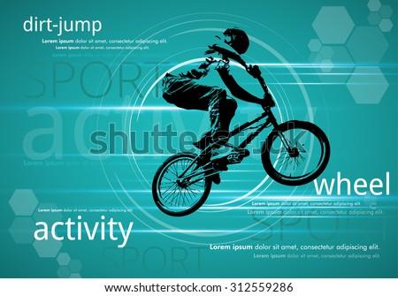 Bmx rider vector - stock vector